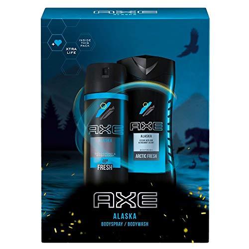 Axe Geschenkset Alaska für ein langanhaltendes Frischegefühl mit Deospray und Duschgel (150 ml + 250 ml)