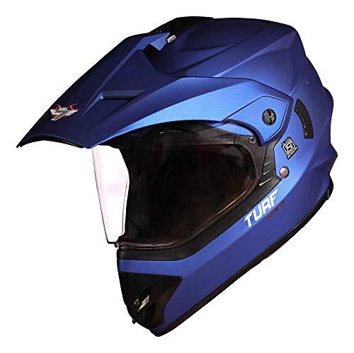 Steelbird Off Road TURF Motocross Helmet Men (Large 600 MM, Matt Y.Blue...