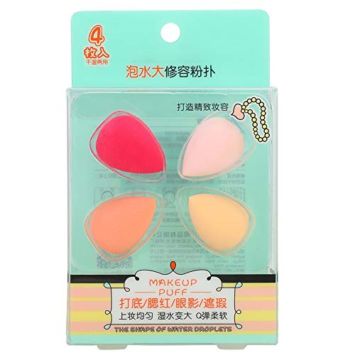 Poudre Puff-4Pcs Mini goutte en forme de maquillage Puff Foundation liquide maquillage Puff