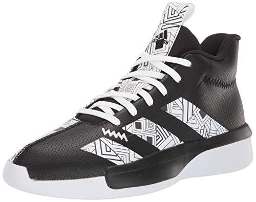 adidas Men's Pro Next 2019 Basketball Shoe, Black/White/White, 9.5 M US