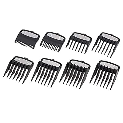 8PCS/Set Guide Comb Set, Anself 8 Sizes Hair Clipper Attachment Combs Set, Hair Clipper Cutting Combs, Limit Combs, Hair Trimmer Combs for Hair Clippers/Trimmers by Anself