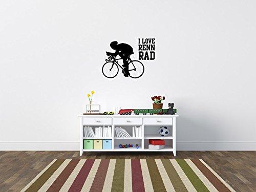 Comedy Wall Art I Love RENNRAD - Schwarz - ca. 80 x 60 cm