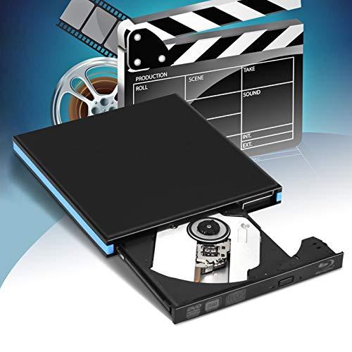 KKTECT Lettore Dvd Blu Ray Esterno unità Dvd 3D CD Dvd Bluray BD USB 3.0 e Type-C Compatibile con bruciatore Ottico con MacOS, Windows XP / 7/8/10 per MacBook, Laptop, Desktop, PC