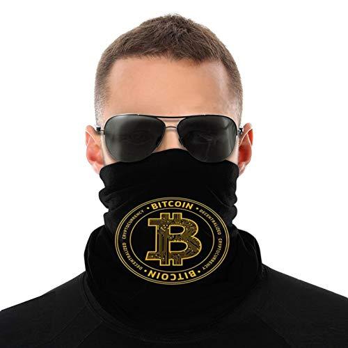Bitcoin Wallpapers Logo Bufanda tubular para hombres y mujeres Máscara facial Turbante Pasamontañas Multifuncional Headwear Cuello cálido 20 * 10 Pulgadas