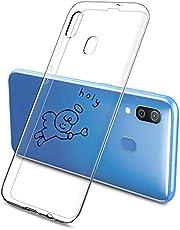 Suhctup Compatible con Huawei Mate 20 Funda Silicona Transparente con Dibujos Lindo Cárcasa Ultrafina Suave Gel TPU con Animados Diseño Patrón Antigolpes Proteccion Cover,Angelito 3