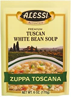 Alessi Zuppa Toscana Tuscan White Bean Soup, 6 Ounce, (Pack of 12)