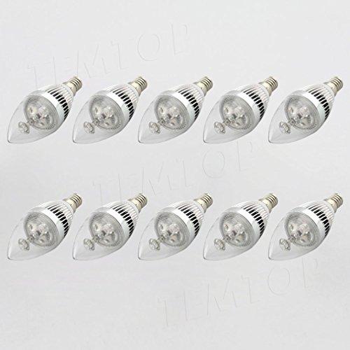 10PCS x Ossun 3W E14dimmerabile a LED a forma di candela LED ad alta potenza, bianco caldo/bianco freddo, Day White, E14, 3.00 wattsW 230.00 voltsV