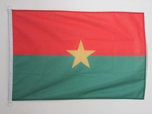 AZ FLAG BOOTFLAGGE Burkina FASO 45x30cm - Burkina FASO BOOTSFAHNE 30 x 45 cm Marine flaggen Top Qualität