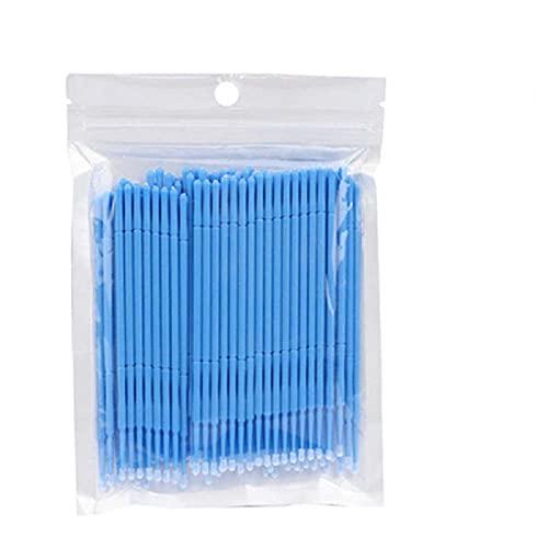 Baitu 100Pcs Touch Up Paint Brushes,Colorful Car Paint Repair Kit Micro Applicators for Automotive Paint Detailing,Stone Chips,Scratches(Blue)