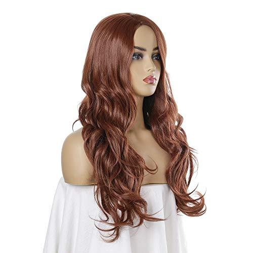 Souple Femmes Long Wavy perruque blonde cheveux Cozy Faux naturel fashion
