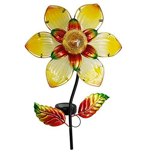 MAGGIFT 38 Inch Garden Solar Flower Light, Solar Powered...