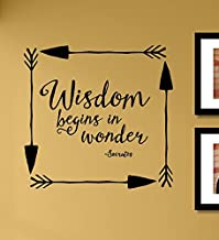 Wisdom begins in wonder Vinyl Wall Art Decal Sticker