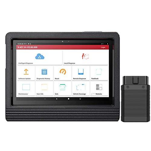 LAUNCH X431 V+ Outil de Diagnostic OBD2 EOBD WiFi Bluetooth Android Valise Diagnostique Auto Multimarque Lecteur de Code Professionnel en Français avec Écran Tactile 10.1