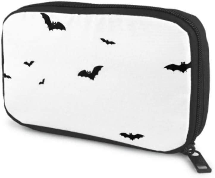 Electronics Accessories Organizer Bag Horror Black Bats Group Isolated On Electronics Organizer Electronic Travel Organizer Bag Storage Bag of Cases for Cable, Charger, Phone, USB, Sd Card