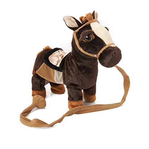 Dark Brown Remote Control Battery Operated Walking Toy Horse