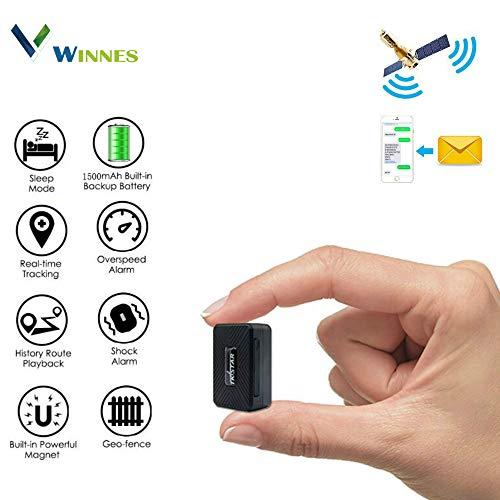 GPS Tracker GPS auto Localizzatore GPS Anti-Lost Tracker in tempo reale impermeabile con pulsante SOS per bambini, anziani, auto -senza abbonamento & Free APP (TK913)