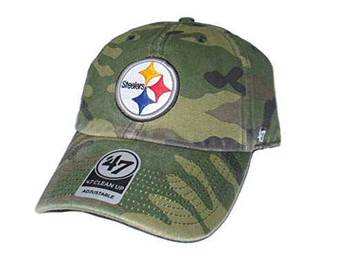 '47 Pittsburgh Steelers Camouflage One Size Fits Most Clean Up Hat Cap
