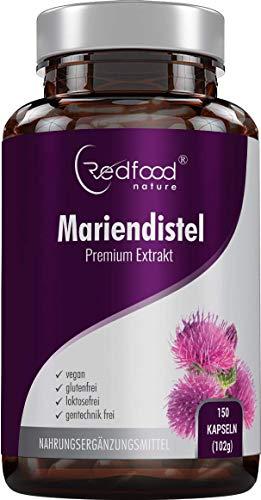 MARIENDISTEL PREMIUM EXTRAKT · 500 mg Mariendistel Extrakt mit 80% Silymarin Anteil · hoch konzentriert · 150 vegane Kapseln Made in Germay · OHNE Magnesiumstearat und 100% vegan