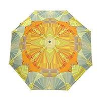 傘オートOpen Close Art Sunshine Flloral 3 Folds Anti-UV Lightweight