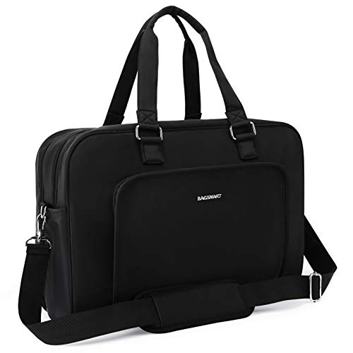 BAGSMART Weekender Bag Travel Duffle Bag Large Carry On Overnight Bag Carry On Bag for Personal Items, Black, 27L