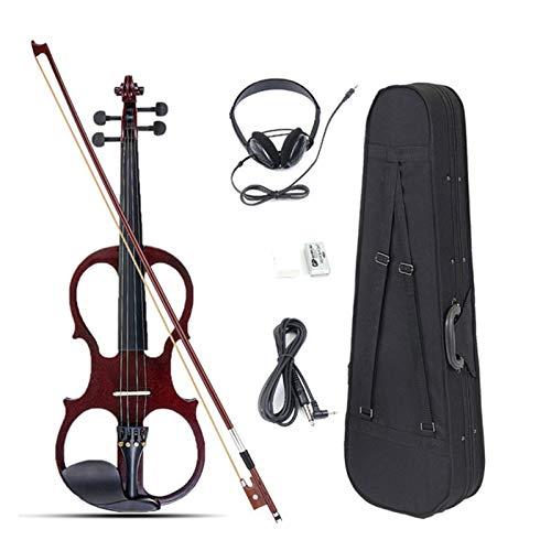 ZIJ 4/4 Violín eléctrico Fiddle Fiddle Instrument Basswood con Accesorios Funda para...