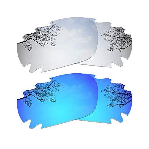 Dynamix Lenti di ricambio polarizzate Oakley Jawbone/Racing Jacket - Opzione multipla (Titanio + Blu ghiaccio)