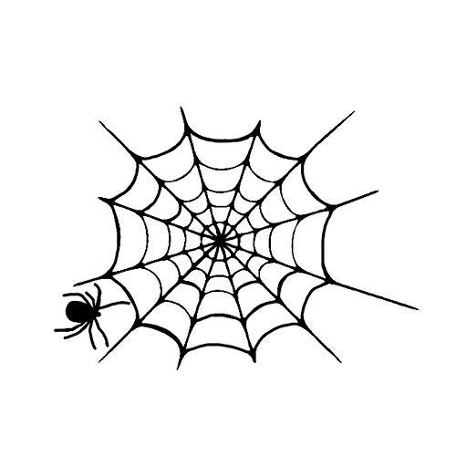 Car Sticker 13cm * 10cmeresting Spider Web Pegatinas Coche Personalizado Calcomanías Portátil Maleta Motocicleta Auto (Color : Black)