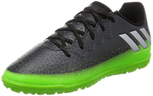 adidas Unisex-Kinder Messi 16.3 TF Fußballschuhe, Grau (Dark Grey/Silver Met./Solar Green), 36 2/3 EU
