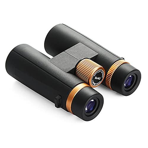 GAOXIAOMEI 8x42 Binoculares de Techo compactos Impermeables a la Niebla para Adultos Totalmente Multicapa con prismas BaK-4 Regalo Binocular para Exteriores y observación de Aves Elección,Negro