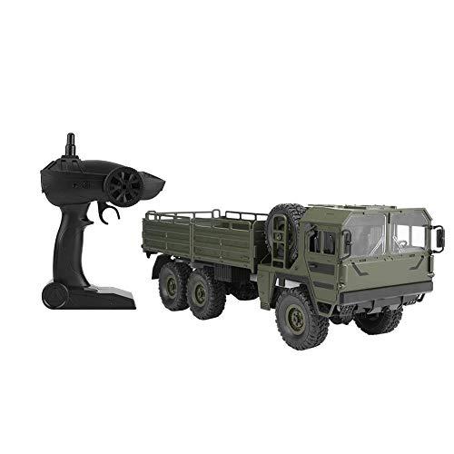 JULYKAI Fernbedienung Geländewagen RC Cars Fahrzeug, JJRC Q64 1:16 RC 6WD Simulation Transporter Spielzeugauto Fernbedienung Modell LKW RC LKW Monster Fahrzeug(Grün)