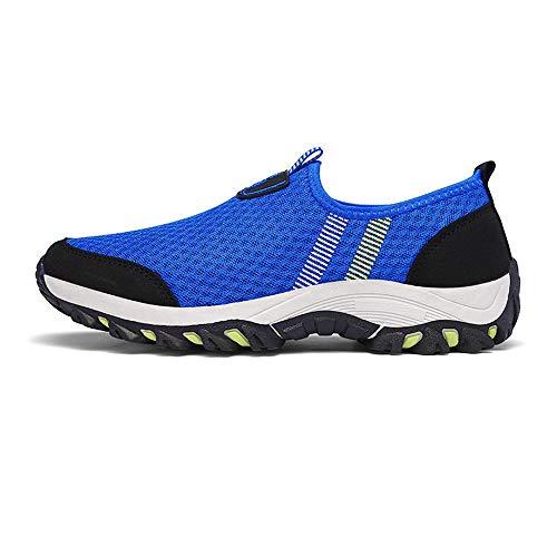 Women's Hiking Shoes, High Top Sneaker Winter Warm Hook Loop Snow Shoes Suede Ankle Bootie(Blue-42/10 B(M) US Women/8 D(M) US Men)