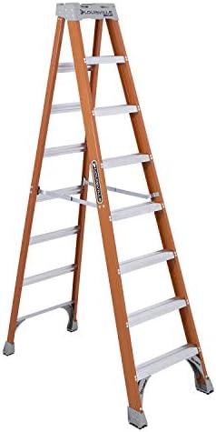 Louisville Ladder FS1508 8 Fiberglass Step Ladder 8 Foot Orange product image