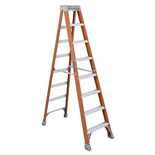 Louisville Ladder FS1508 8' Fiberglass Step Ladder, 8-Foot, Orange