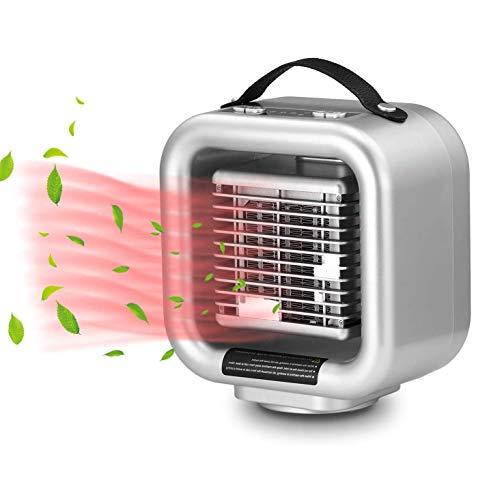 FYLD PTC-ventilatorkachel, mini keramische ventilatorkachel, draagbare elektrische verwarming met 1000 W/650 W verwarmingsmodi, oscillerend, thermostaat, kantel- en oververhittingsbeveiliging, energiebesparende werking voor het thuiskantoor