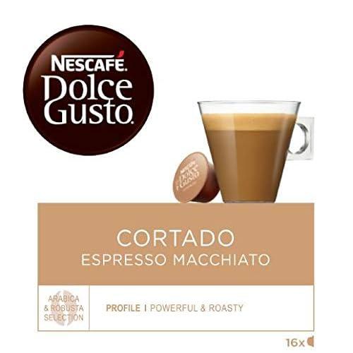 NESCAFÉ Dolce Gusto | Capsulas de Café Cortado Espresso Macchiato | Pack de 3 x 16