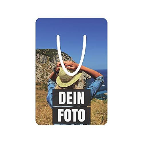 PhotoFancy® – Metall-Lesezeichen mit Foto bedrucken – Buchzeichen mit eigenem Motiv selbst gestalten (Format: 7,6 cm x 5,1 cm)