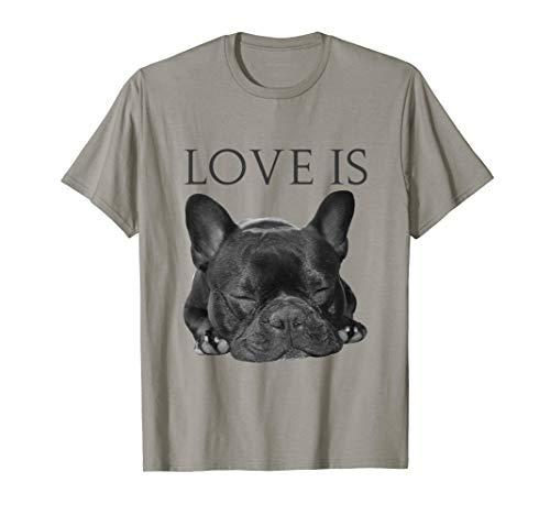 Französische Bulldogge Liebe Niedliches Schwarzes T-Shirt