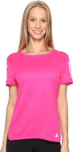 adidas Mujer Camiseta de Manga Corta de Running de Respuesta, Mujer, Shock Pink