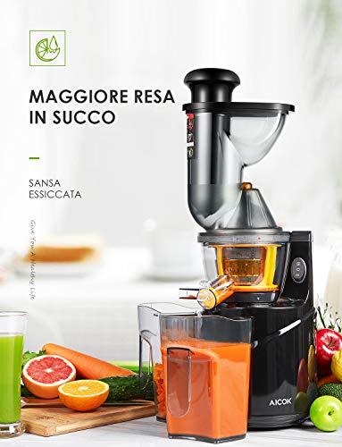 Gemüse & Obst Slow Juicer Aicok Entsafter Bild 2*
