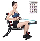 femor Total Body Home Gym Machine, Abs & Core Exercise Trainer Equipment for Rowing, Sit Up, Twister