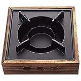 Sonline Griglie da Cucina Portatili Lega di Alluminio Stufa Solida Commerciale Quadrata per Uso Domestico Vecchia Pentola Calda per Stufato Un Secco