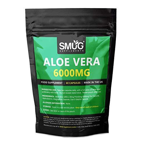 Aloe Vera Capsules   Natural Herb Supplement   Equivalent to 6000mg Aloe...