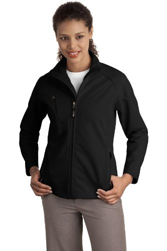Port Authority® Ladies Textured Soft Shell Jacket. L705 Black XXL