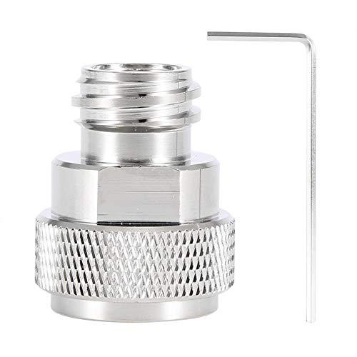 Umrüstung des Tankbehälters - Messing-CO2-Adapter Ersetzen Sie die Umrüstung des Tankbehälters for Sodastream (Farbe : Silber)