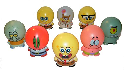 Spongebob and Friends Figure Cake Topper Cupcake Party Decoration Set of 8 with Patrick, Sandy, Plankton, Mr. Crabs and More! by Nick Jr
