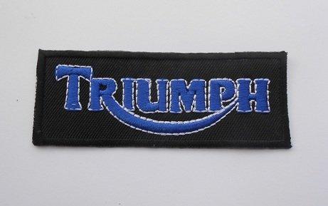 Patches-Triumph-Blue-Cars-Motorsport Racing Car Team-Iron on Patch--Aplique Embroidery écusson brodé disfraz cadeau- Give away