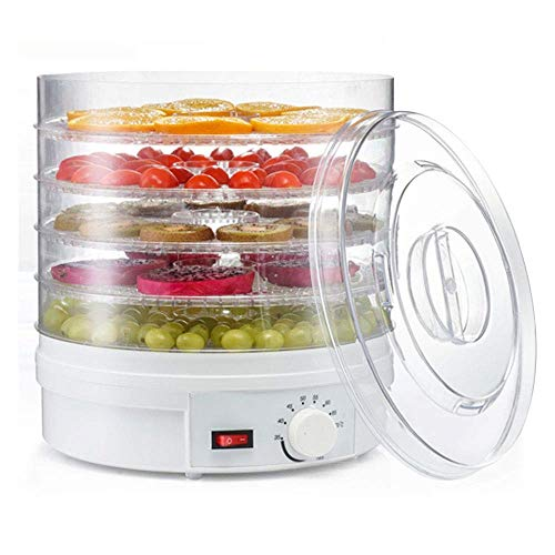 Fantastic Prices! WJMLS Countertop Premium Food Dehydrator -Stackable Trays, Adjustable Thermostat &...