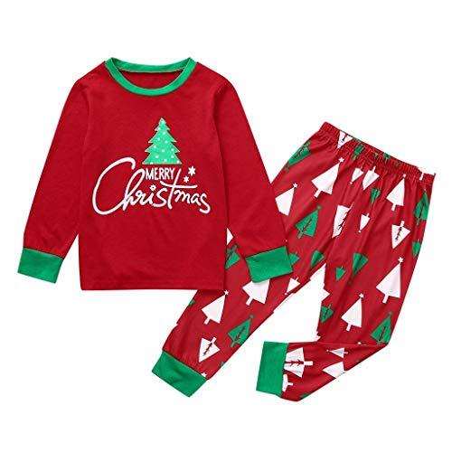 BaZhaHei 2019 Neue Weihnachten Outfit Set Pyjama Set Schlafanzug für die ganze Familie Nachtwäsche Hausanzug Weihnachts Pyjama Outfits Set