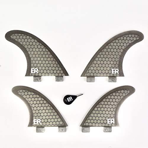 Eisbach Riders FCS - Juego de aletas para tabla de surf (fibra de vidrio, con llave Fin Key), gris, G5 - Medium