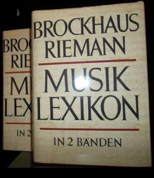 Brockhaus Riemann Musiklexikon in zwei Bänden.,Erster Band: A - K. Zweiter Band: L - Z.